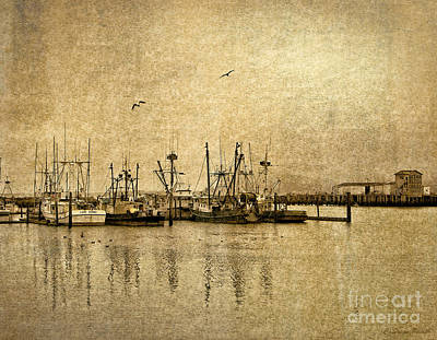Photograph - Fishing Boats Columbia River In Sepia by Susan Parish