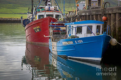 Photograph - Fishing Boats Dingle Ireland by Brian Jannsen