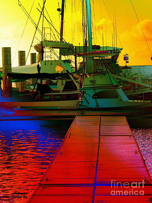 Haleiwa Digital Art - Fishing Boats by Dorlea Ho