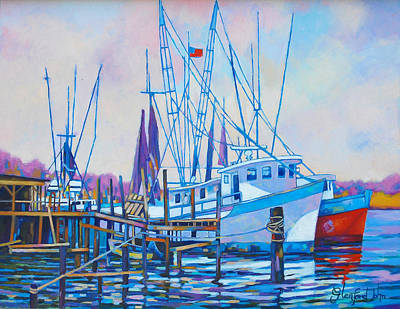 Painting - Fishing Boats by Glenford John