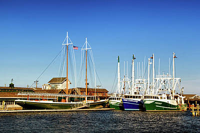 Photograph - Fishing Boats In Cape May Harbor by Carolyn Derstine
