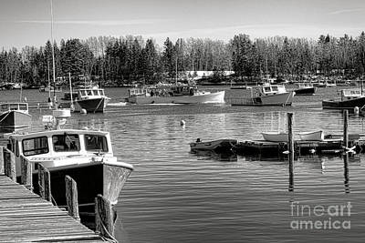 Photograph - Fishing Boats In Friendship Harbor In Winter by Olivier Le Queinec