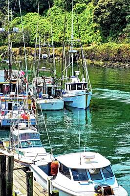 Photograph - Fishing Boats In Ft. Bragg Harbor by Kirsten Giving