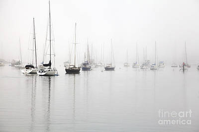 Photograph - Boats In Morro Bay Fog by Sharon Foelz