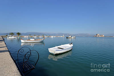 Photograph - Fishing Boats In Nafplio Town by George Atsametakis