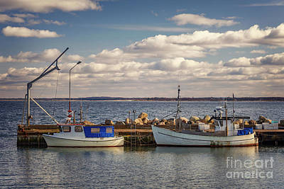 Photograph - Fishing Boats In Small Harbour by Sophie McAulay