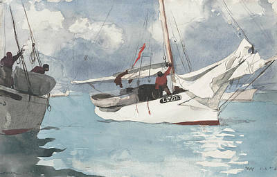 Painting - Fishing Boats, Key West by Winslow Homer
