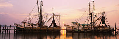 Amelia Island Photograph - Fishing Boats Moored At A Dock, Amelia by Panoramic Images