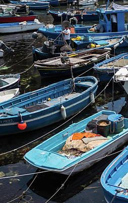 Photograph - Fishing Boats Of Napoli by Jocelyn Kahawai
