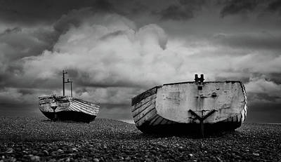 Photograph - Fishing Boats On Aldeburgh Beach #3 by David Calvert