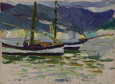 Fishing Boats, Sestri Art Print by Wassily Kandinsky
