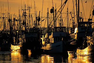 Photograph - Fishing Boats Sunset Light by Jim Corwin
