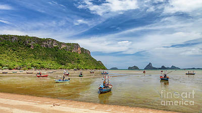 Photograph - Fishing Boats Thailand by Adrian Evans