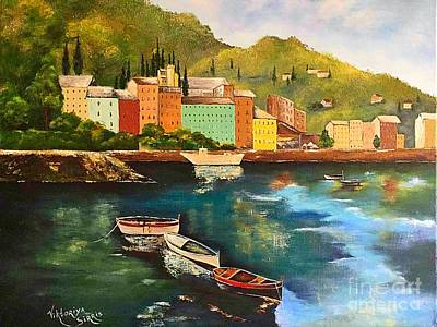 Fishing Boats Original by Viktoriya Sirris