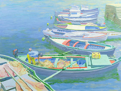 Small Boat Painting - Fishing Boats by William Ireland