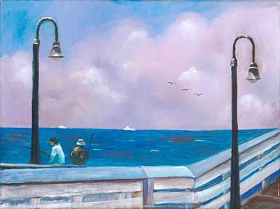 Painting - Fishing Buddies by Herman Sillas