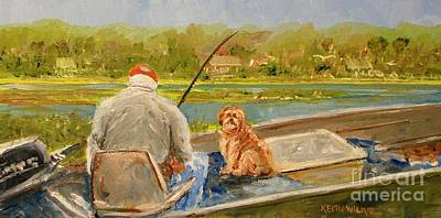 Painting - Fishing Buddy by Keith Wilkie