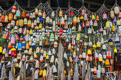 Photograph - Fishing Buoys Apalachicola Florida Dsc00104_16 by Greg Kluempers