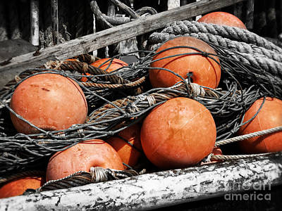 Photograph - Fishing Buoys by Dawn Gari