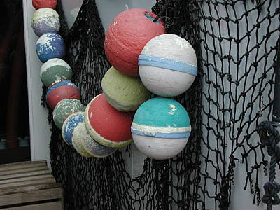 Photograph - Fishing Buoys by Nancy Taylor