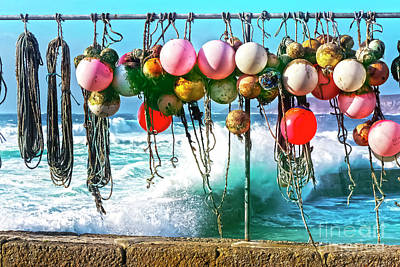 Photograph - Fishing Buoys by Terri Waters