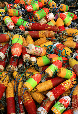 Photograph - Fishing Buoys by Timothy Johnson
