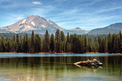 Photograph - Fishing By Mount Lassen by James Eddy