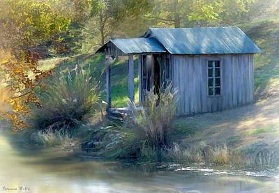 Digital Art - Fishing Cabin by Bonnie Willis