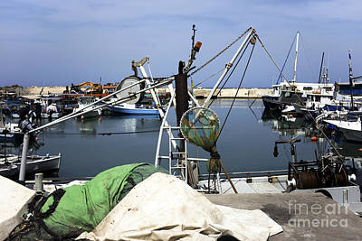 Photograph - Fishing Day At Jaffa Port by John Rizzuto