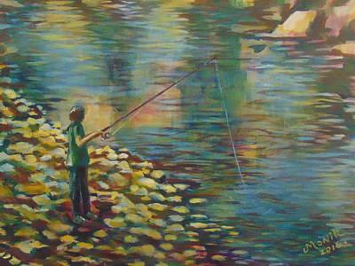 Fishing Day Art Print