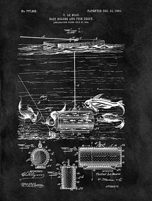Fishing Decoy And Bait Patent Art Print