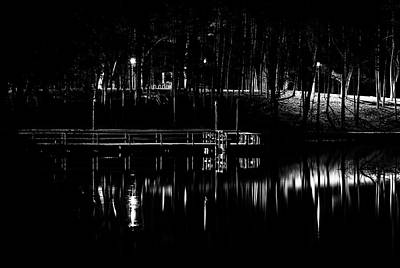 Fishing Dock At Night 2017  Art Print by Thomas Young