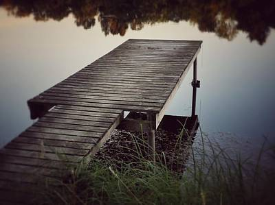 Art Print featuring the photograph Fishing Dock by Karen Stahlros