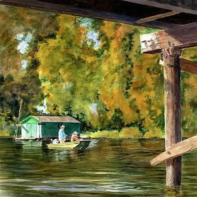Painting - Fishing Escape by Phyllis Martino