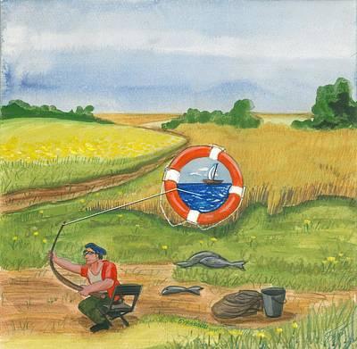 Fishing Original by Fedor Buravlev