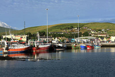 Fishing Fleet At Dingle, County Kerry, Ireland Art Print