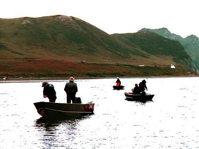 Photograph - Fishing For Salmon - Karluck River - Kodiak Island Alaska by Merton Allen