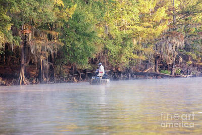 Photograph - Fishing For White Perch On Big Cypress Bayou by Scott Pellegrin