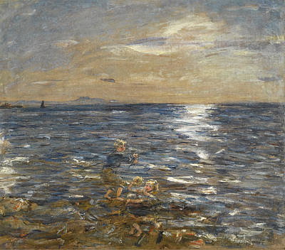 William Mctaggart Painting - Fishing From The Rocks. Port Seton by William McTaggart