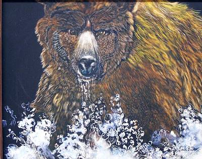Painting - fishing Grizzly SOLD by Jack Bolin