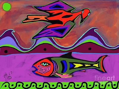 Digital Art - Fishing by Hans Magden