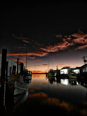 Photograph - Fishing Harbor At Dawn by David Kay