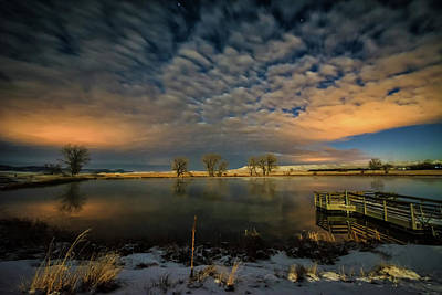 Photograph - Fishing Hole At Night by Fiskr Larsen