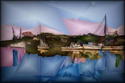 Digital Art - Fishing In Carolina by Jon Glaser