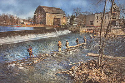 Photograph - Fishing In Clinton by Pat Abbott