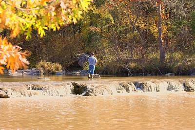 Art Print featuring the photograph Fishing In Fall by Sheila Brown