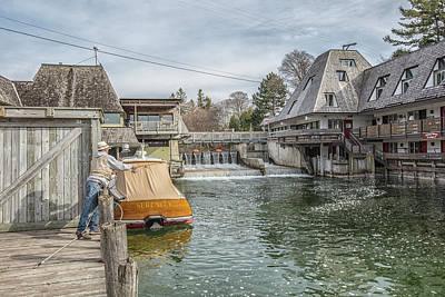Photograph - Fishing In Fishtown Michigan Leland  by John McGraw