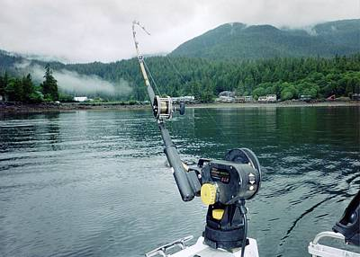 Art Print featuring the photograph Fishing   In Se Alaska by Judyann Matthews