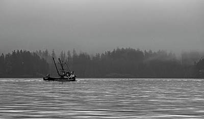 Photograph - Fishing In The Fog - 365-199 by Inge Riis McDonald