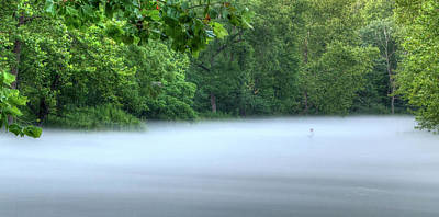 Photograph - Fishing In The Fog by Steve Stuller